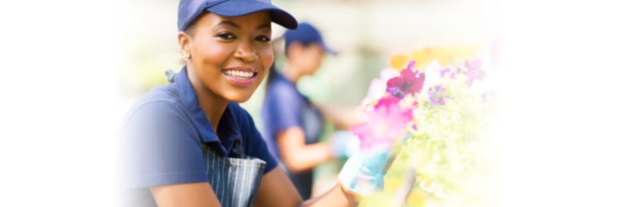 Woman working with flowers, Bookkeeping in Lake City, FL and Gainesville, FL
